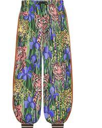 Gucci Women's 572696xdasx3515 Multicolor Silk Pants - Green