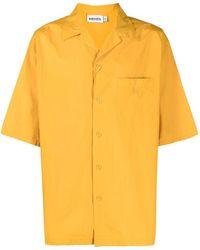 KENZO Men's Fb55ch1401la41 Yellow Cotton Shirt