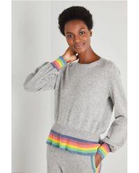 Wyse London Gail Rainbow Ruffle Hem - Grey
