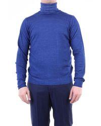 Jeordie's Knitwear High Neck Men Bluette