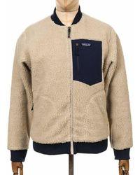 Patagonia Retro-x Fleece Bomber Jacket - Pelican Colour: Pelican - White