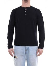 Heritage T-shirt With Long Sleeves In Black