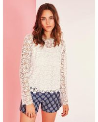 Suncoo - Sophie Lace Sweater - Lyst