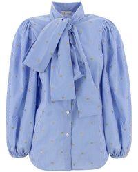 RED Valentino Lurex Shirt - Blue