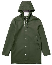 Stutterheim Stockholm Green Raincoat By