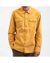 Rhythm Tobacco Moleskin Ls Shirt - Orange