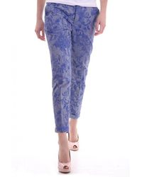 Paul by Paul Smith Paul Smith Paul Paul Smith Womens Pants Tapered Style In Cotton Siz - Blue