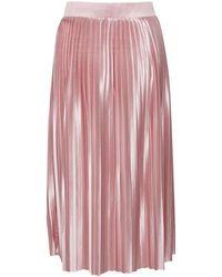 Ichi Pleat Skirt - Pink