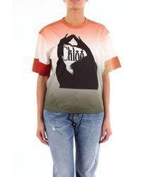 Chloé Chloãƒâ ̈ Rust-colored Short-sleeved T-shirt - Orange