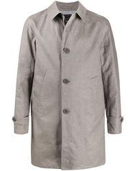 Herno Men's Im042ul171159400 Grey Linen Coat