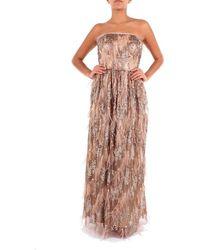 Clips Women's S91a0323824bronze Bronze Polyester Dress - Metallic