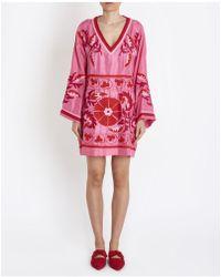 P.A.R.O.S.H. - Parosh Goisy Embroidered Kaftano Dress - Lyst