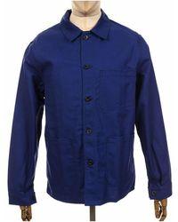 Le Laboureur Cotton Drill Work Jacket - Navy - Blue
