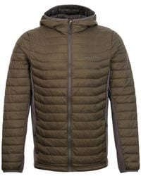 Columbia Powder Pass Hooded Jacket Olive - Green