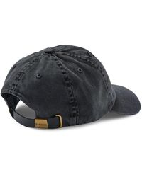 Filson Washed Low Profile Cap - Faded Wolf - Black