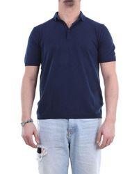 Heritage Men's Mm0253p2zblunavy Blue Cotton Polo Shirt