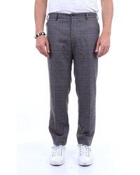 PT Torino - Trousers Chino Men Dark Gray And Brown - Lyst