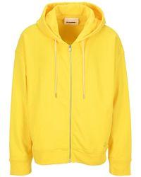 Jil Sander Zipped Hoodie - Yellow