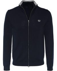 Fred Perry - Cotton Zip-through Cardigan - Lyst