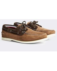 Tommy Hilfiger Tommy Jeans Suede Boat Shoes - Green