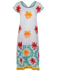 Naudic - Alberta Dress Lotus Floral Embroidery Naug-779 - Lyst