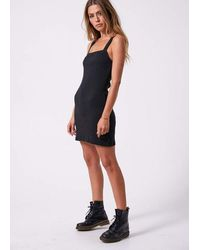 Afends Helena Square Neck Dress - Black