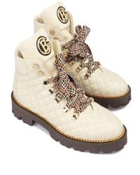 Baldinini Quilted Leather Booties - White