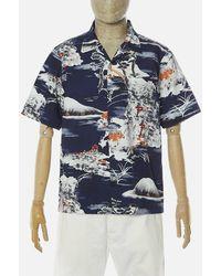 Universal Works Fuji Summer Road Shirt In Navy - Blue