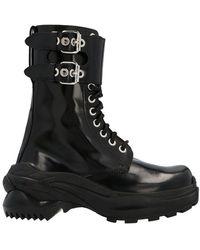 Maison Margiela Leather Ankle Boots - Black