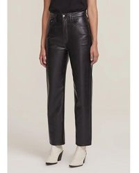 Agolde 90s High Rise Pinch Waist Recycled Leather Straight Leg Pants - Detox - Multicolor