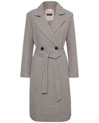 Part Two Abbygail Checked Coat - Gray