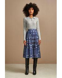 Bellerose Pacifico Print Skirt In - Blue