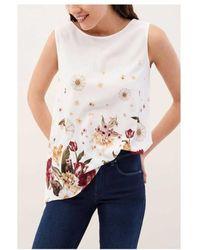 Salsa Floral Print Vest 120728 - Multicolour