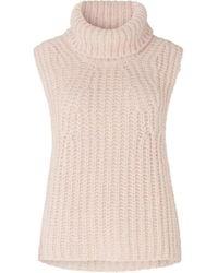 Second Female Ivory Knit Vest Crystal Grey - Pink
