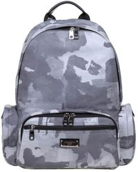 Dolce & Gabbana - Nylon Backpack With Camouflage Print - Lyst