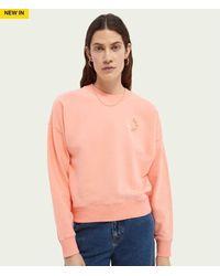 Scotch & Soda Scotch & Soda Relaxed Fit Organic Cotton Sweatshirt - Multicolour