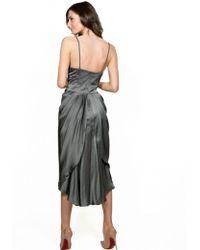 Nanette Lepore Muse Silk Dress Soft Grey - Gray
