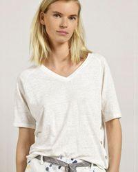 Mat De Misaine Merille Linen Top - White