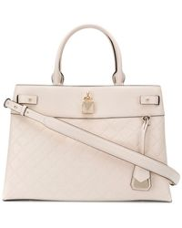 MICHAEL Michael Kors Gramercy Leather Tote Bag - Natural