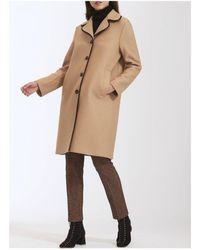 Harris Wharf London Harris Wharf Piped Contrast Dress Coat - Brown