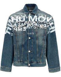 ih nom uh nit Men's Nus21601089 Blue Cotton Jacket