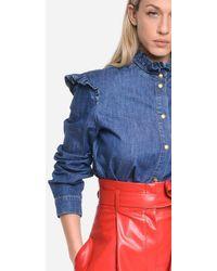 Philosophy Shirt Denim Chambray Rouges - Blue
