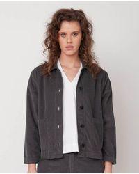 Beaumont Organic Sharon Organic Cotton Jacket In Slate - Gray