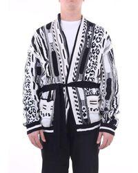 Laneus - Knitwear Cardigan Men Black And White - Lyst