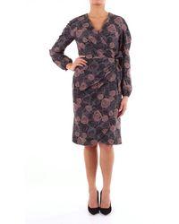 Alessandro Dell'acqua Two-tone Long Dress - Purple