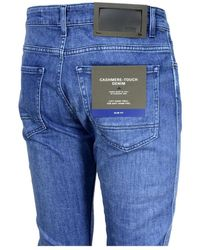 BOSS by Hugo Boss Delaware3 Slim Fit Mid Blue Jeans In Cashmere Touch Denim 50438747