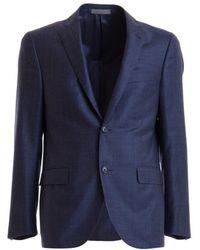 """Corneliani """"prince Of Wales"""" Jacket - Blue"""