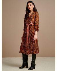Bellerose Armory Dress In Russet - Brown