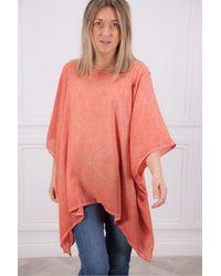 Crea Concept Oversize Top In Orange - Red