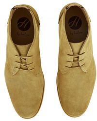 H by Hudson Bedlington Camel Suede Boots - Natural